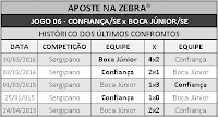 LOTECA 697 - HISTÓRICO JOGO 06