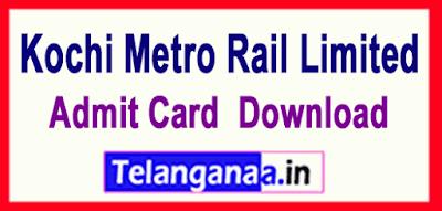 Kochi Metro Rail Limited KMRL Recruitment Notification