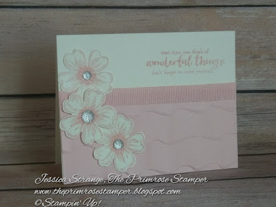 Pretty Pink Ruffle Card made with the Just Add Text & Flower Shoppe stamp sets from Stampin' Up! Video tutorial on the blog post!
