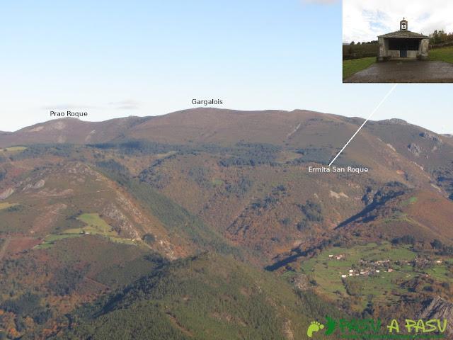 Vista del Prao Roque y Gargalois desde el Mosqueiro