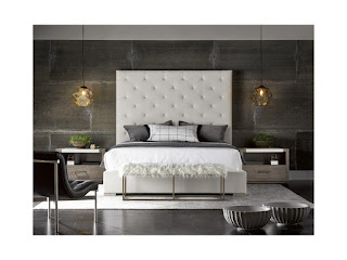 soft faux fur paired with modern brando bed