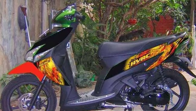 modifikasi motor beat hitam