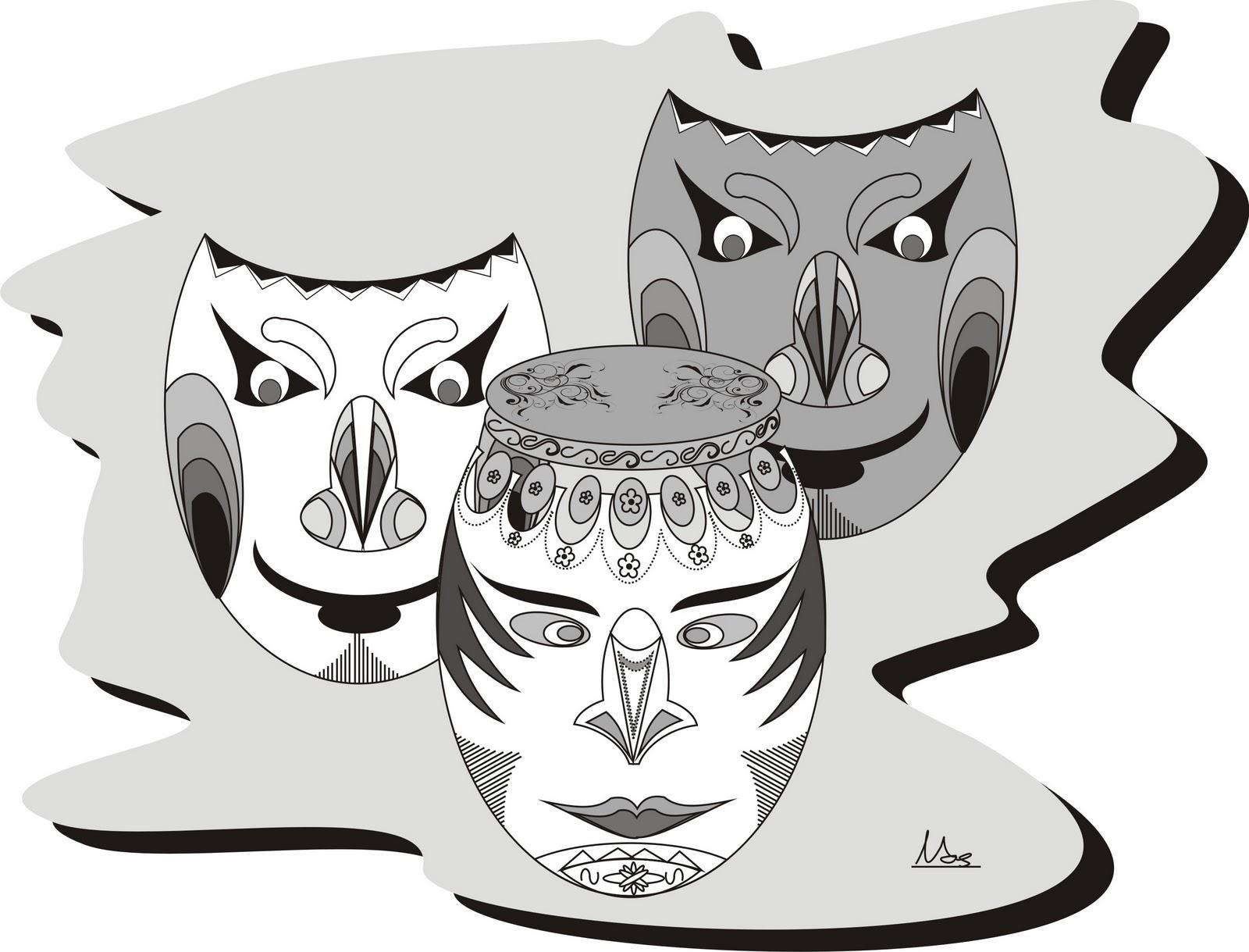 Download Kumpulan Gambar Sketsa Topeng Pesta Dansa