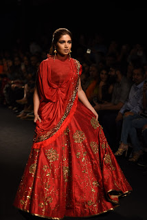 Bhumi Pednekar walked for Ruceru at Lakme Fashion Week.