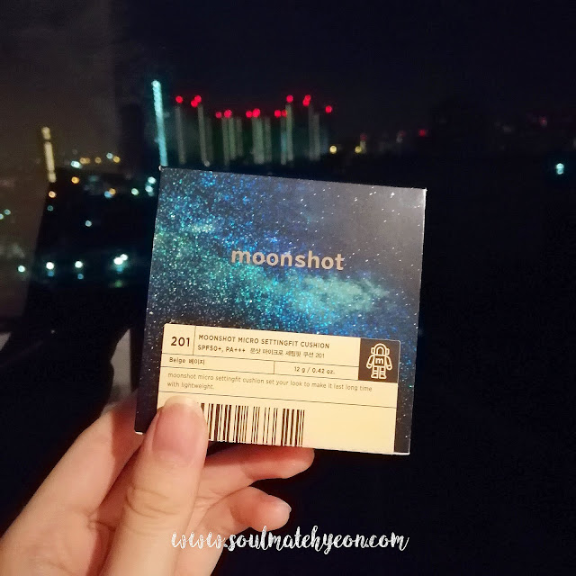 Review; Moonshot's Micro Settingfit Cushion SPF50+ PA+++ 201 Beige