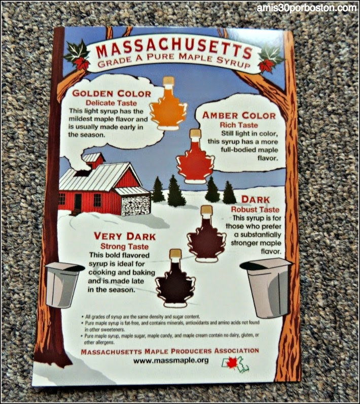 Maple Sugar Season en Massachusetts: Grados de Siropes