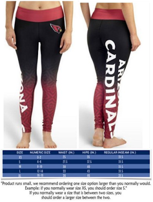 Arizona Cardinals Women's Official NFL Gradient Legging