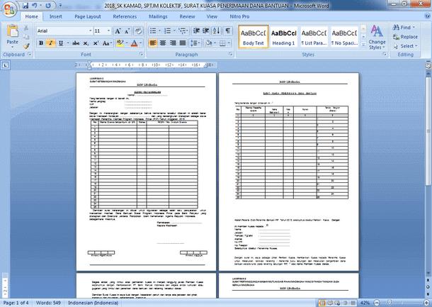Contoh Format Surat Kuasa, Surat Keterangan dan SPJTM PIP