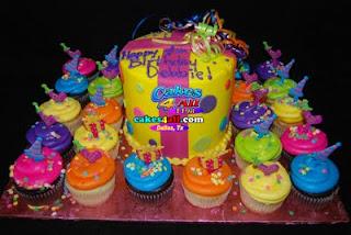 Hawaiian Style Birthday Cakes Or Cupcakes