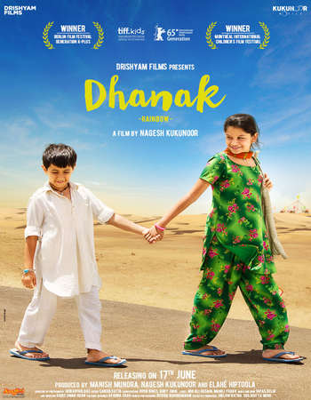 Poster Of Dhanak 2016 Hindi 350MB HDRip 480p ESubs Watch Online Free Download Worldfree4u