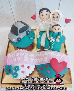 Cupcake Ulang Tahun Tema Bis dan Mobil