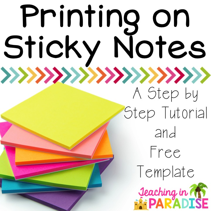 printing on sticky notes - Teacher Pictures To Print