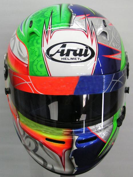 Arai Custom Painted Design Kart #183 Hand