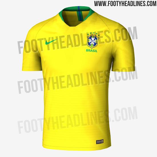 fbd43ea6eb Exclusif: Fuite du maillot du Brésil Coupe du Monde 2018 - Footy ...