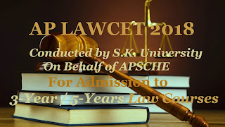 LAWCET 2018 : Exam date, Notification, Online application form, Eligibility, Fee, Syllabus, Exam pattern, Answer key