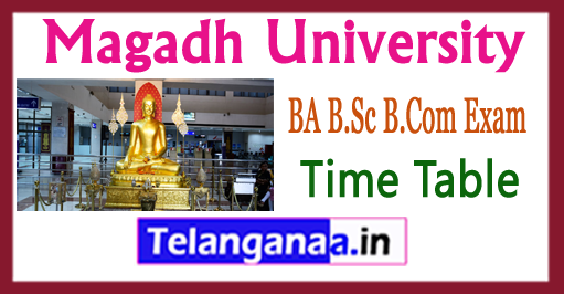 Magadh University BA B.Sc B.Com Exam Time Table 2017