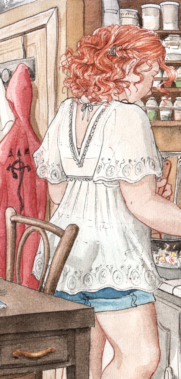 détails du fanart : roxane de dos