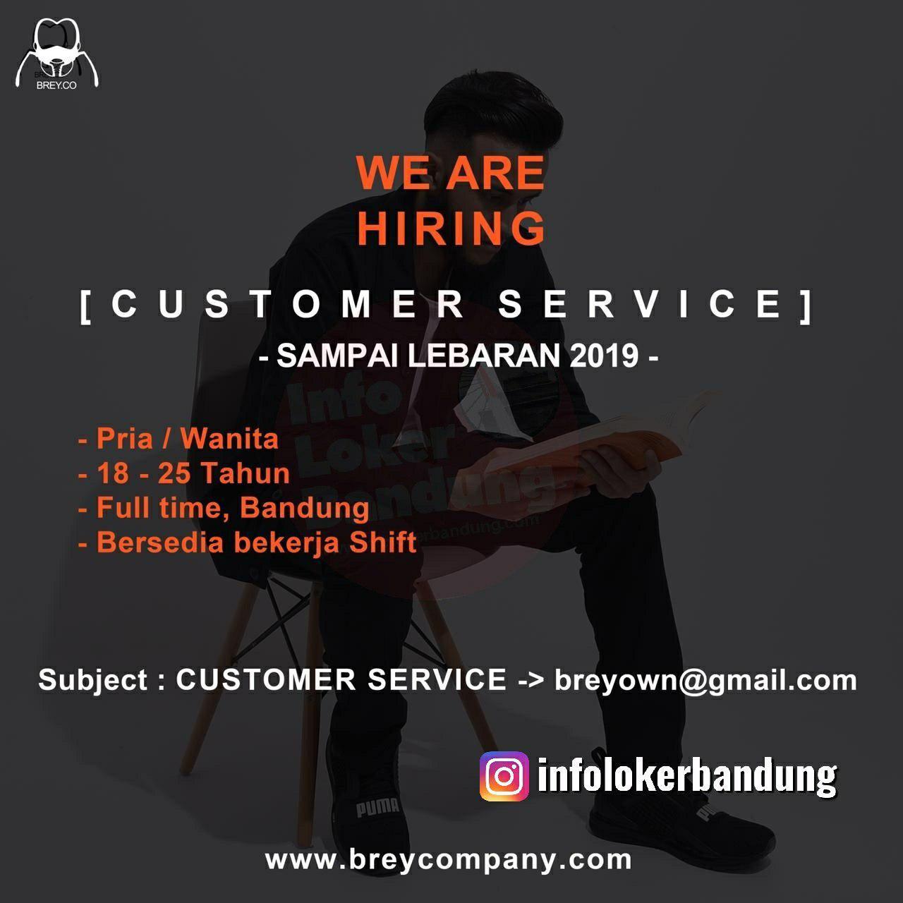 Lowongan Kerja Customer Service Brey Company Bandung April 2019