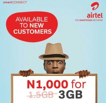 New Offer!! How To Activate Airtel 3GB For N1000 And 1.5GB For N500