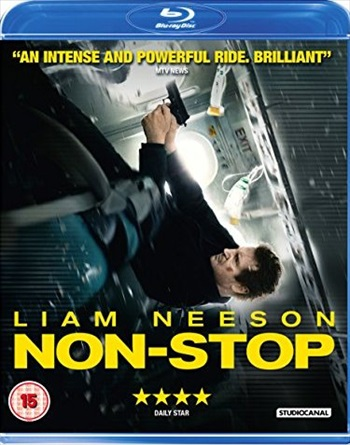 Poster of Non-Stop 2014 BRRip 720p Dual Audio 900MB Watch online Free Download Worldfree4u