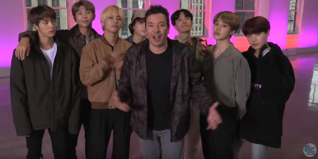 BTS y Jimmy Fallon hacen el Reto de Baile Fortnite | Fortnite Dance Challenge