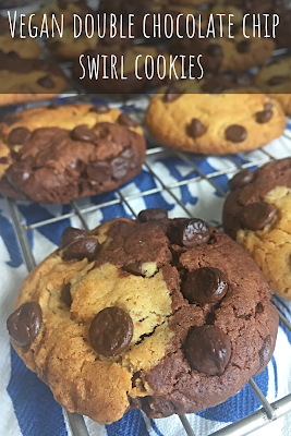 Vegan Double Chocolate Chip Swirl Cookies