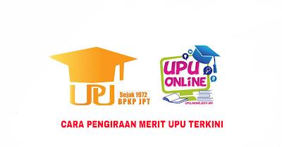 Contoh Pengiraan Merit UPU 2019 (Lepasan SPM)