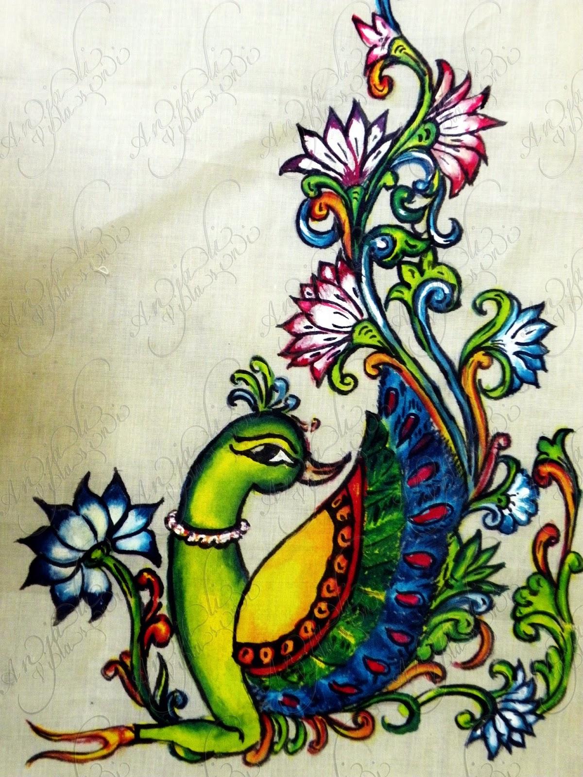 Anjali Vilasini: peacock design