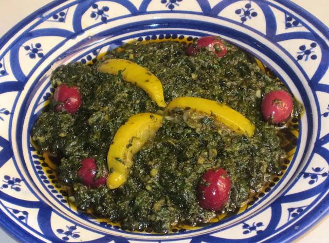 Salade De Mauve Marocaine Au Citron Et Aux Olives Confites