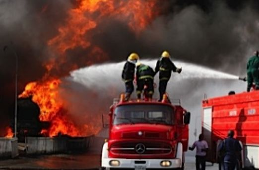 BREAKING: Filling Station On Fire‎ In Lagos