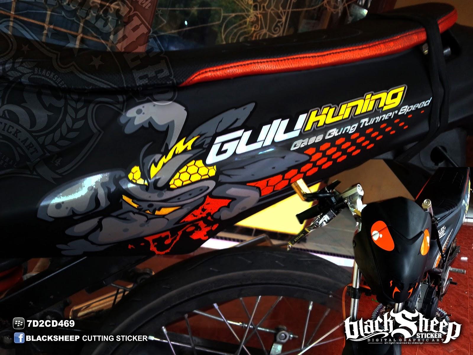Satria F150 gulu kuning custom cutting sticker