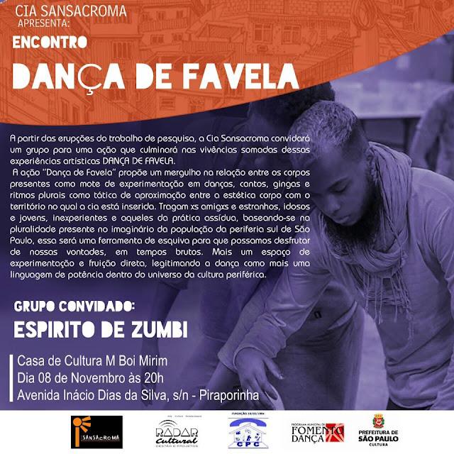 """Cia. Sansacroma realiza """"Dança de Favela"""" na Casa de Cultura M Boi Mirim"""