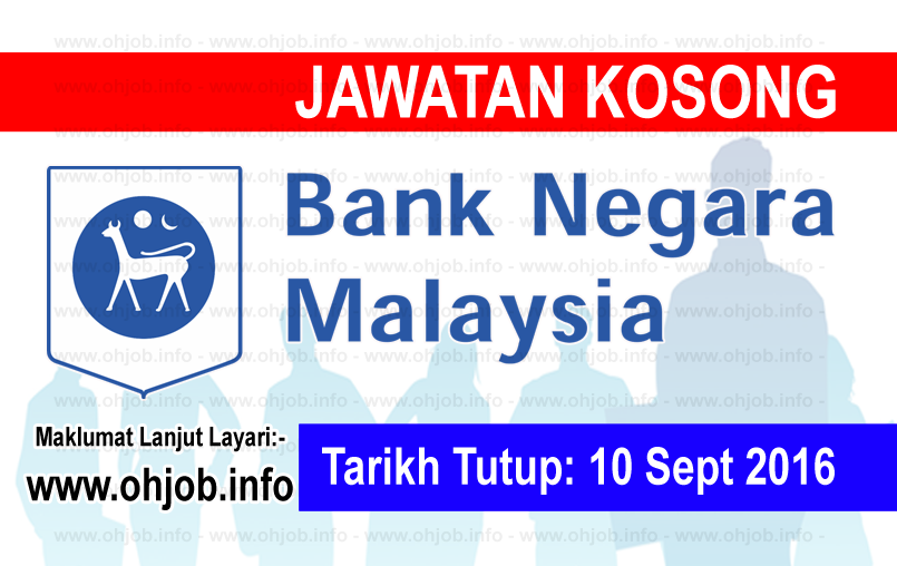 Jawatan Kerja Kosong Bank Negara Malaysia (BNM) logo www.ohjob.info september 2016