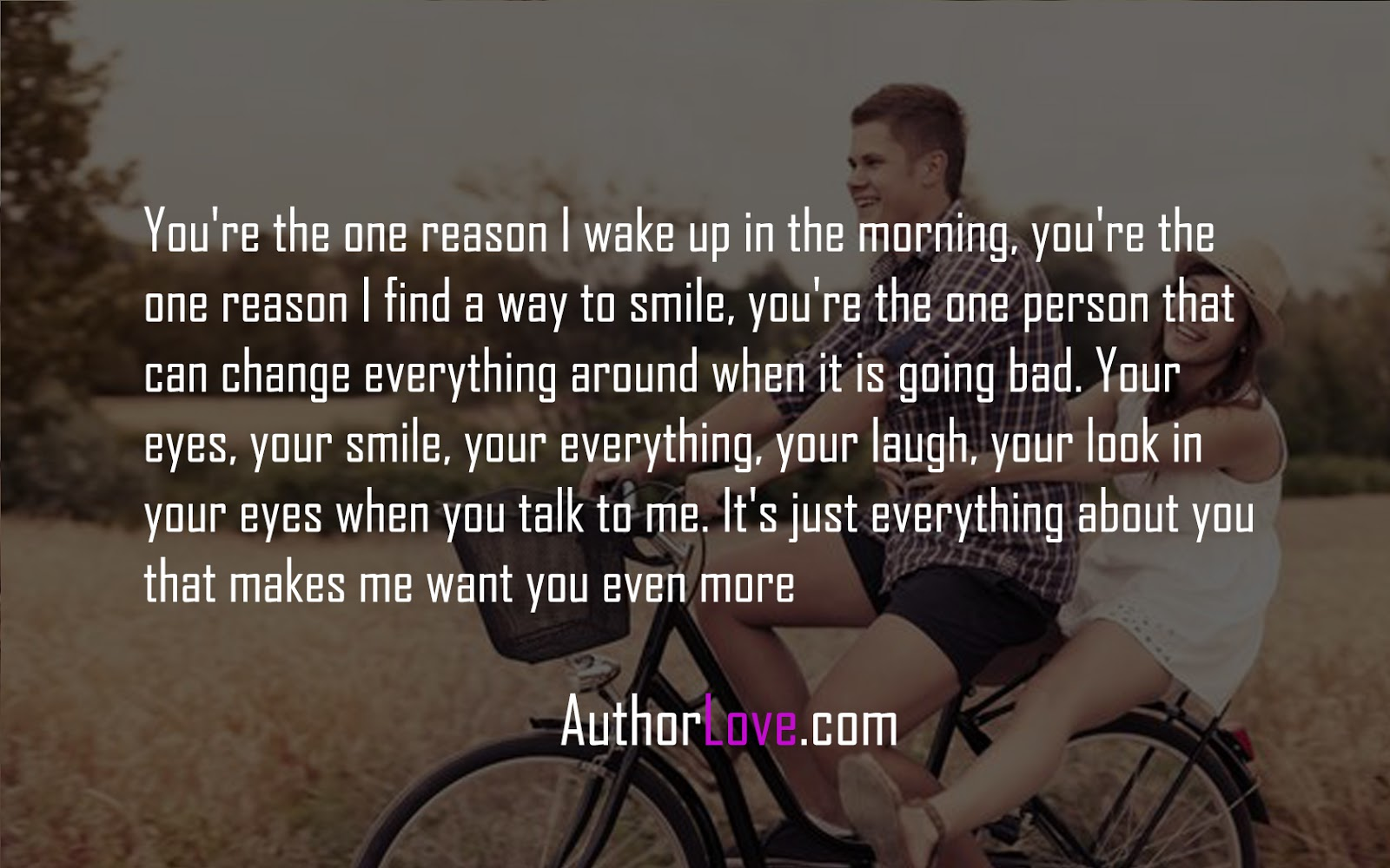 You're The One Reason I Wake Up In The Morning