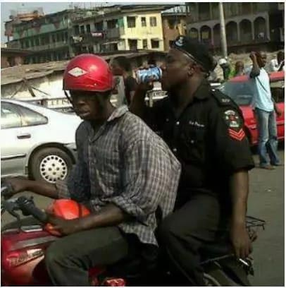 Caption This Picture Of A Policeman Seen On Duty