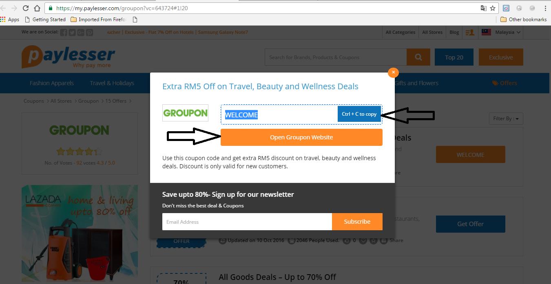macam mana nak tahu online shopping ada diskaun atau tawaran kupon terkini?
