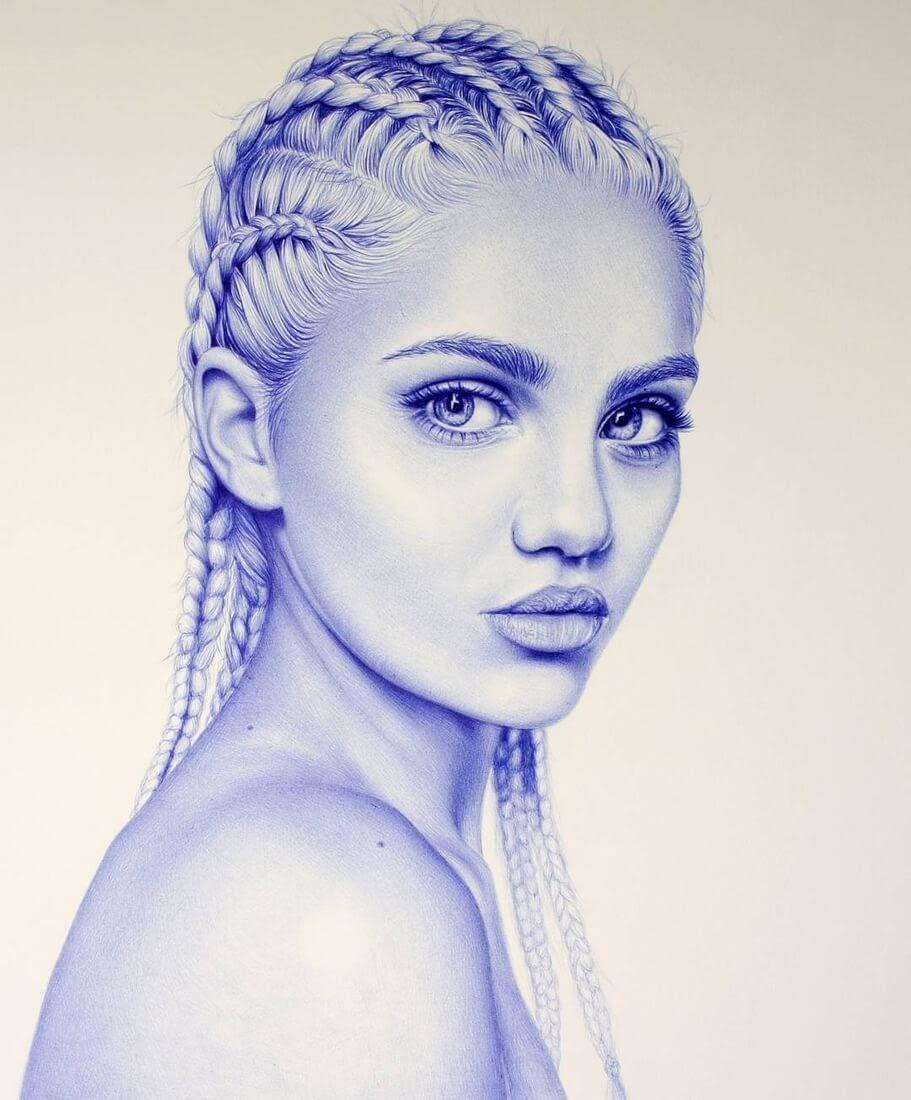 01-Amina-blue-Eva-Garrido-Ballpoint-Bic-Pen-Portrait-Drawings-www-designstack-co