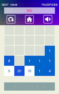 "jeu reflexion android play store nombres calcul facile blocks genre tetris ""2048"""