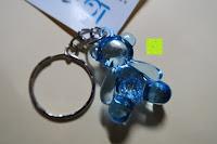 blau hinten: German Trendseller® - 6 x Teddy - Schmuck Anhänger - NEU - ┃ Mitgebsel ┃ Kindergeburtstag ┃ Kristall Bärchen ┃ 6 Stück