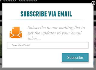 Stylish Feedburner Email Subscription Pop Up for Blogger