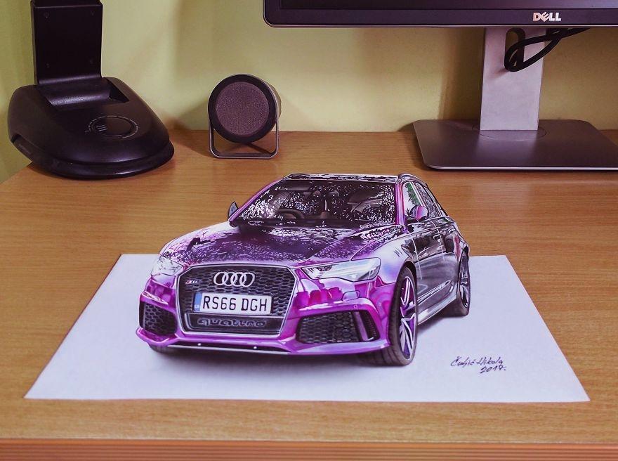 09 Audi-Nikola-Čuljić-2D-Anamorphic-Drawings-that-Look-3D-www-designstack-co