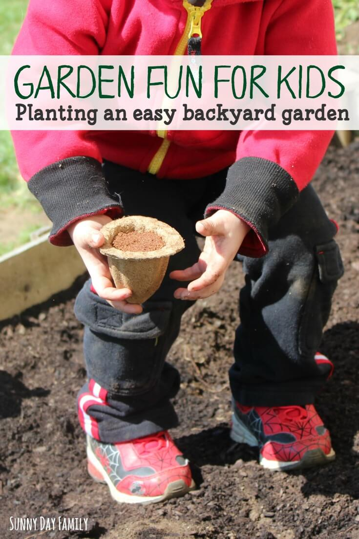 Plant a backyard garden with your kids! Get everything you need to plant a fun family garden - its easy, fun, and a great learning activity for kids!
