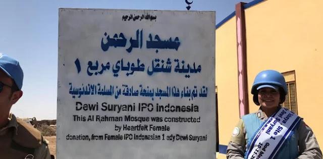 Polisi Indonesia, Bripka Dewi Bangun Masjid Di Darfur Sudan