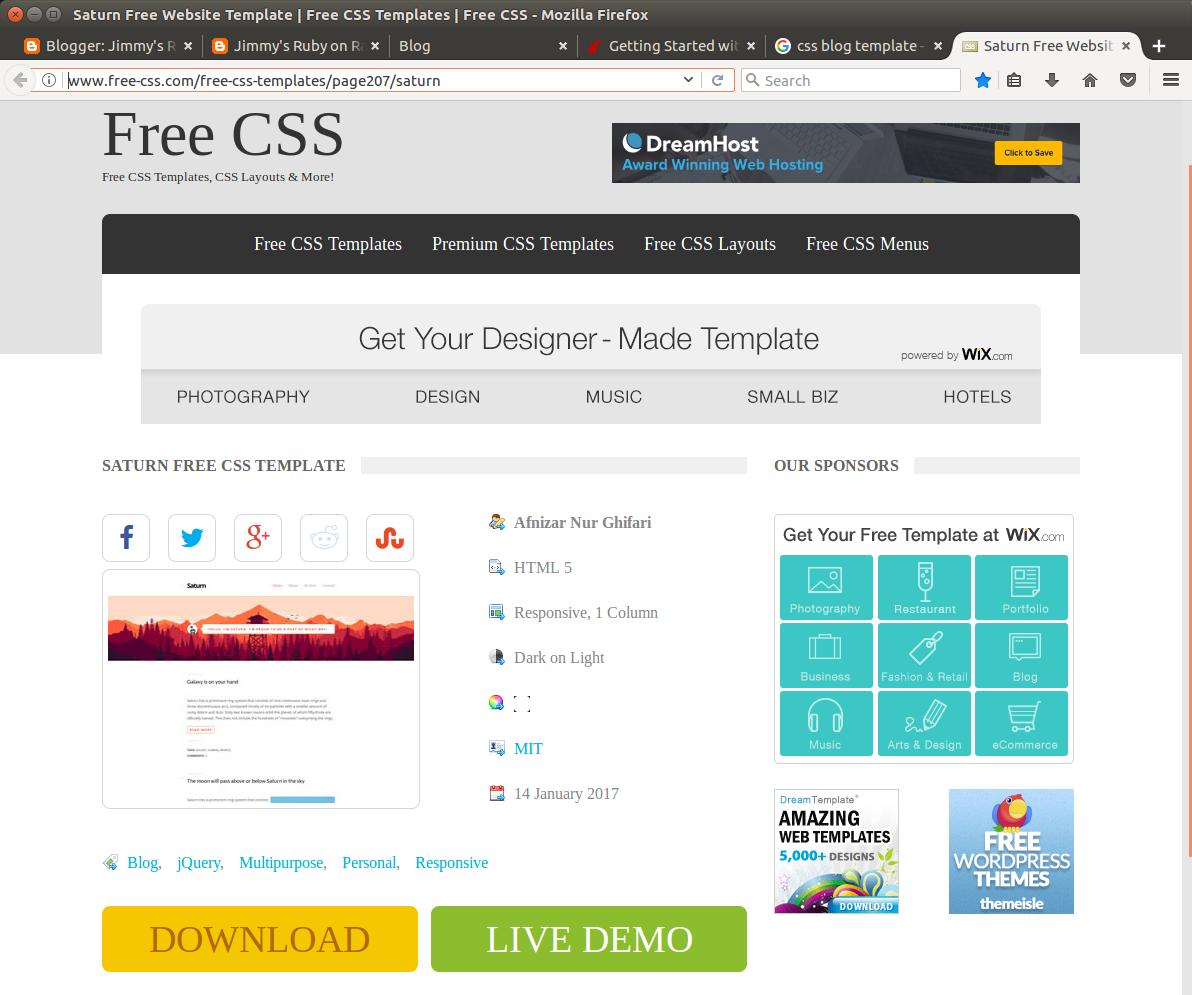 Jimmy\'s Ruby on Rails Quest: Apply a CSS template to my Rails project
