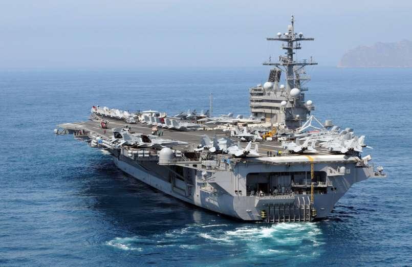 Portaaviones USS George H.W. Bush. Aviones, submarinos y barcos de guerras mas caros del mundo. Cuanto cuesta un portaviones. Cual es el costo de un avión de guerra. Cuanto vale un submarino nuclear.