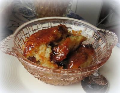 Vanilla Sauced Bread Pudding