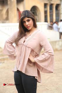 Telugu Actress Aditi Singh Stills in Leather Pants at Nenu Kidnap Iyanu Movie Press Meet  0048.JPG