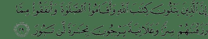 Surat Al-Fathir Ayat 29