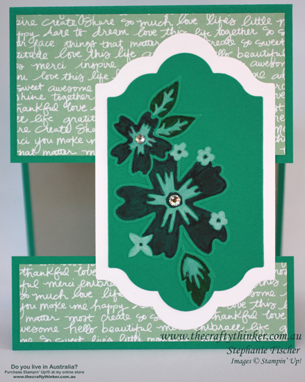 SU, split card, fun fold, Floral Affection embossing folder, sneak peek new products