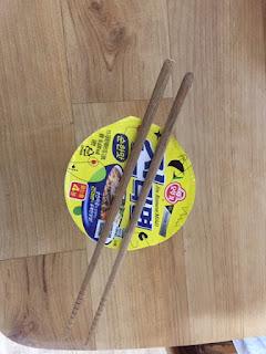 cup noodles with chopstick